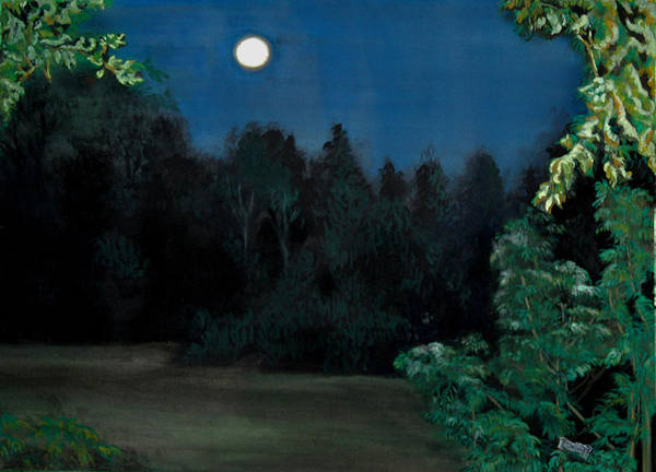 Moon Art Print featuring the painting Moon Shadow by Susan Moore