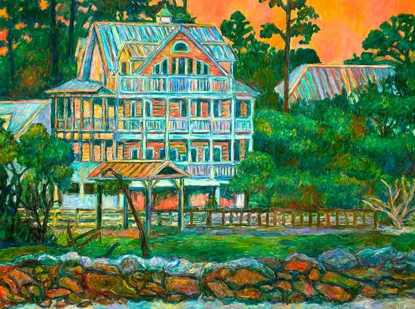 Landscape Art Print featuring the painting Pawleys Island Evening by Kendall Kessler