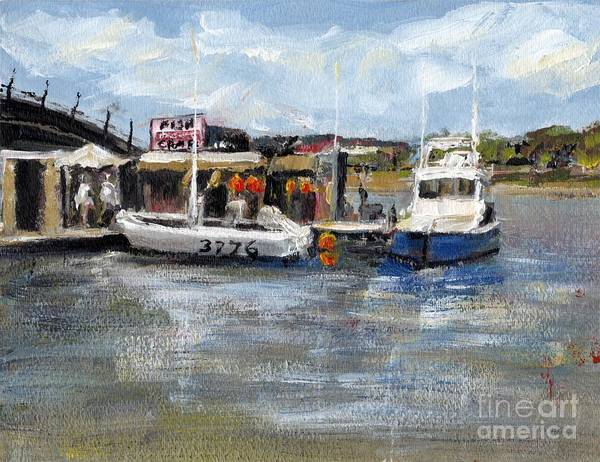 California Art Print featuring the painting Pearson's Port Crab Shack by Randy Sprout