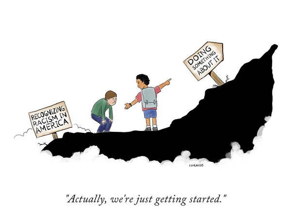 Actually Art Print featuring the drawing Actually, We're Just Getting Started by Victor Varnado