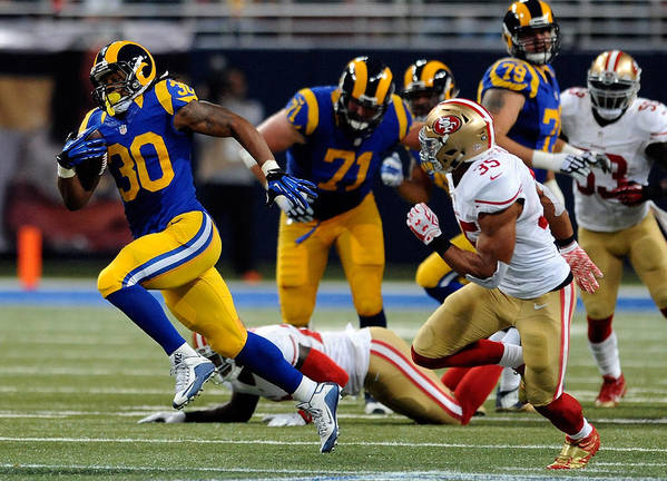 People Art Print featuring the photograph San Francisco 49ers v St Louis Rams by Michael B. Thomas