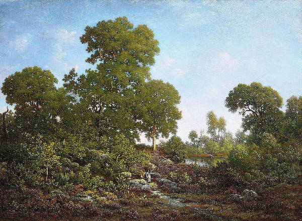 Springtime Art Print featuring the painting Springtime - Digital Remastered Edition by Theodore Rousseau