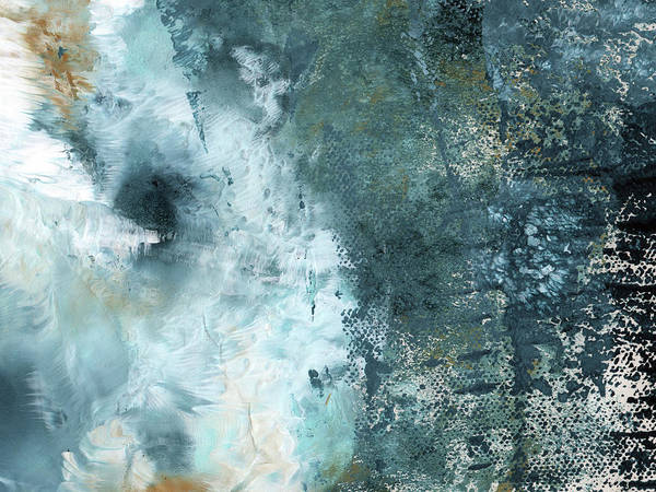 Abstract Art Print featuring the painting Summer Storm- Abstract Art by Linda Woods by Linda Woods