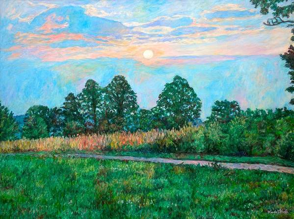 Kendall Kessler Art Print featuring the painting Sunset Near Fancy Gap by Kendall Kessler