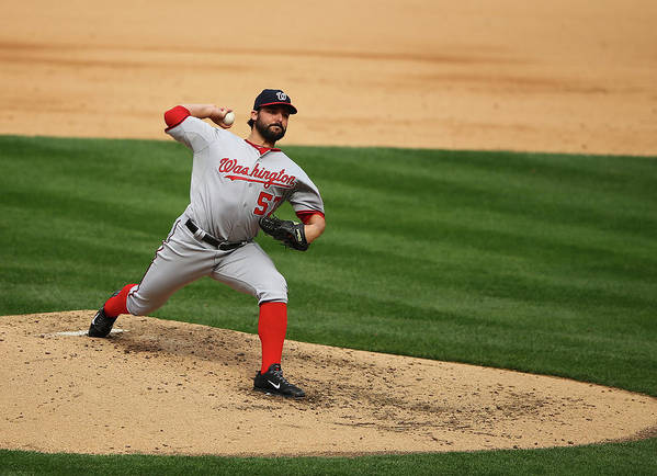 People Art Print featuring the photograph Tanner Roark by Al Bello