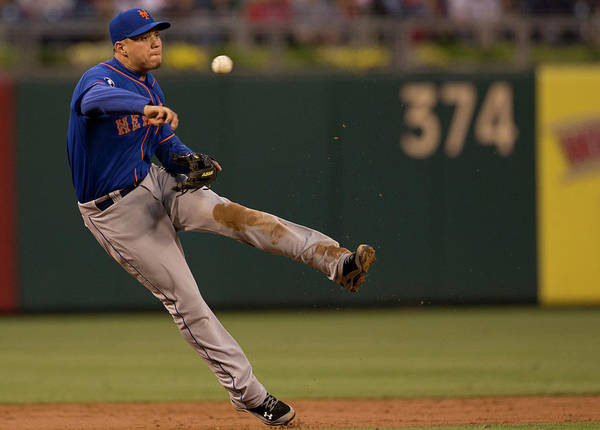 Second Inning Art Print featuring the photograph Wilmer Flores by Mitchell Leff