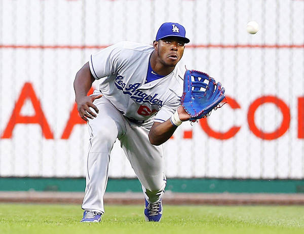 People Art Print featuring the photograph Yasiel Puig by Jared Wickerham