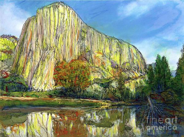 Yosemite National Park Art Print featuring the painting Yosemite National Park. by Randy Sprout