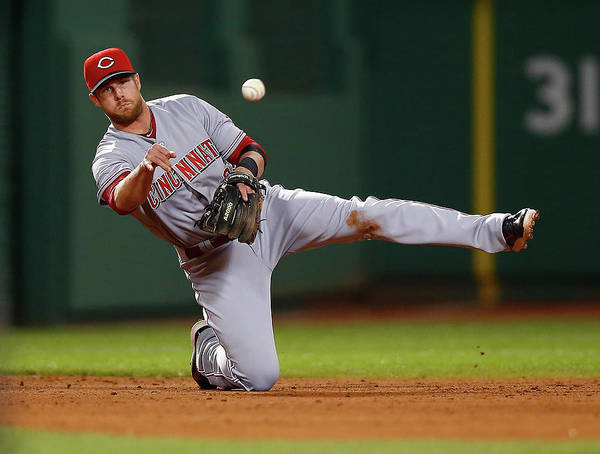 American League Baseball Art Print featuring the photograph Zack Cozart by Jared Wickerham