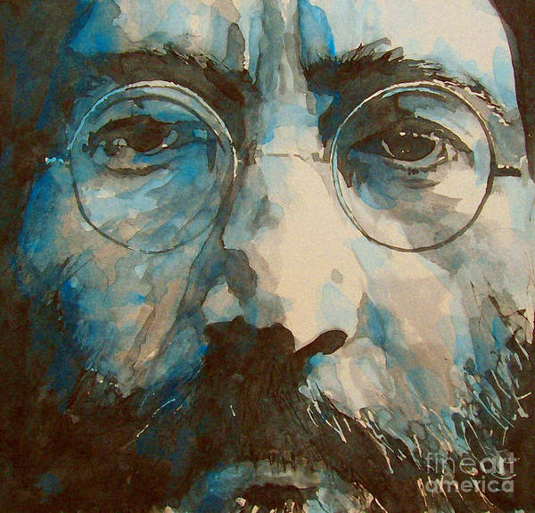 John Lennon Art Print featuring the painting I was the Dreamweaver by Paul Lovering