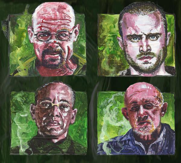 Breaking Bad Art Print featuring the painting Breaking Bad by Ken Meyer jr