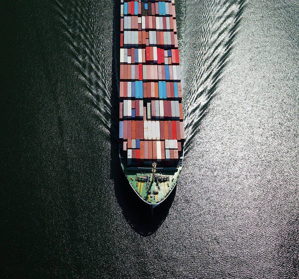 Freight Transportation Art Print featuring the photograph Container Ship Bow by Dan prat