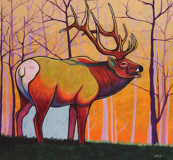 Wildlife Art Print featuring the painting Eternal Warrior by Joe Triano