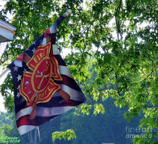 Trees Art Print featuring the photograph Honor Fire Dept. by Rennae Christman