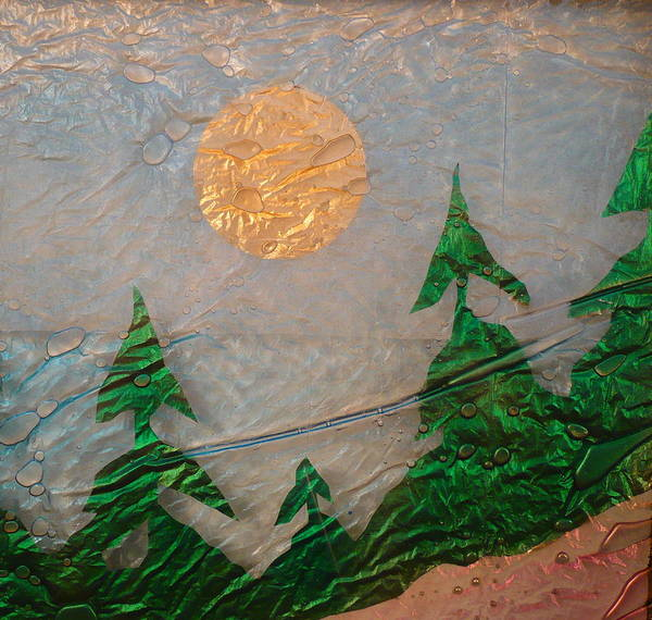 Glass Art Art Print featuring the painting Moon Mist by Rick Silas
