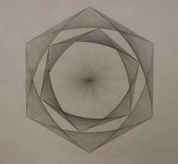 Fractal Art Print featuring the drawing Solar spiraling by Jason Padgett