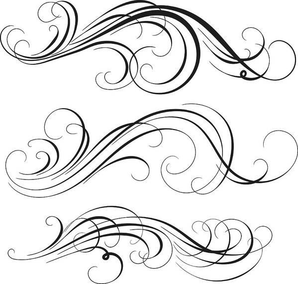 Curve Art Print featuring the digital art Swirl by Mashuk