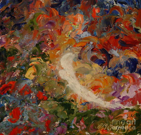Angel Art Print featuring the painting Garden Angel by Colleen Murphy