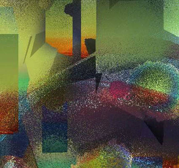 Digital Art Print featuring the digital art Airbrush by Ilona Burchard