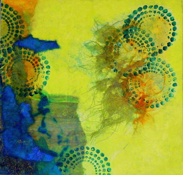 Mixed Media Art Print featuring the painting Circles 5 by Tara Milliken
