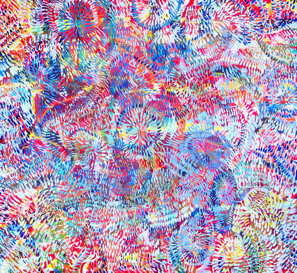 Universe Art Print featuring the painting Microcosm by Rollin Kocsis