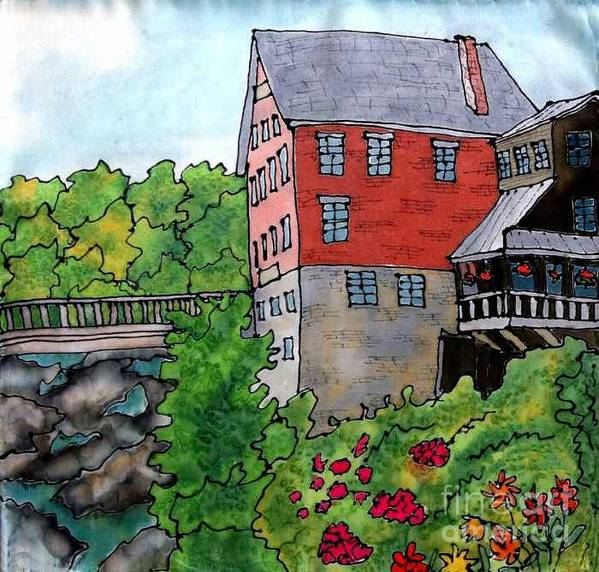Old Mill Art Print featuring the painting Old Mill in Bradford by Linda Marcille