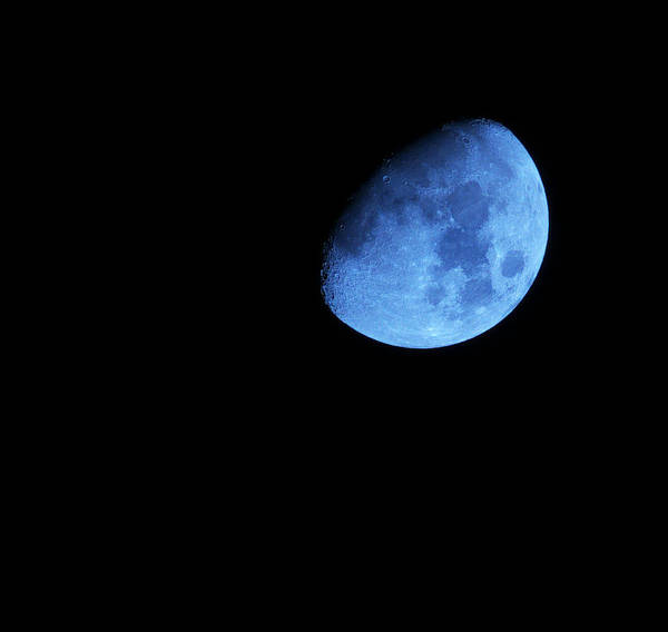 Waxing Blue Moon Art Print featuring the photograph Twice in a blue Moon by Baato
