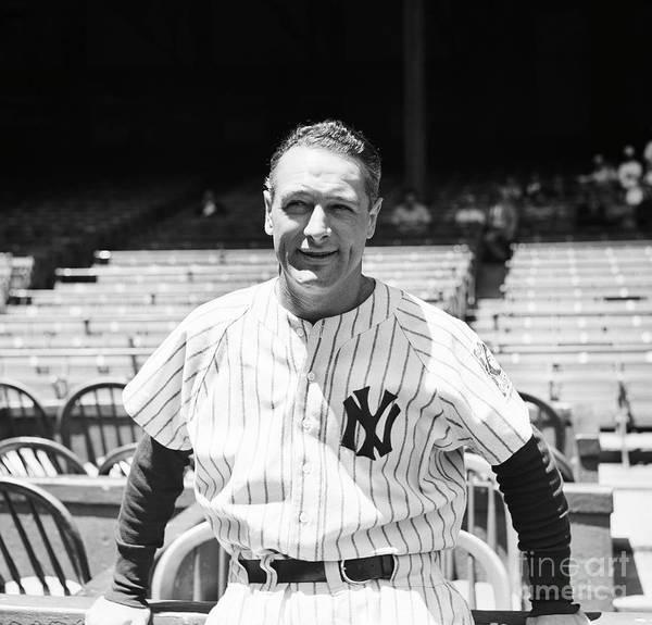 First Baseman Art Print featuring the photograph Lou Gehrig by Bettmann