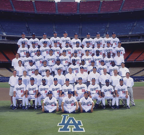 California Art Print featuring the photograph 2004 Los Angeles Dodgers Team Photo by Mlb Photos
