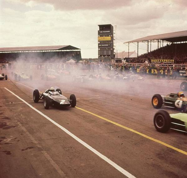 England Art Print featuring the photograph Silverstone Racing by Keystone