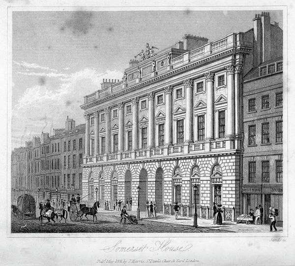 The Strand Art Print featuring the digital art Somerset House by Duncan1890