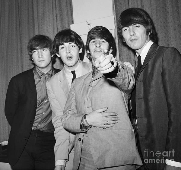 Rock Music Art Print featuring the photograph The Beatles At The Paramount Theater by Bettmann
