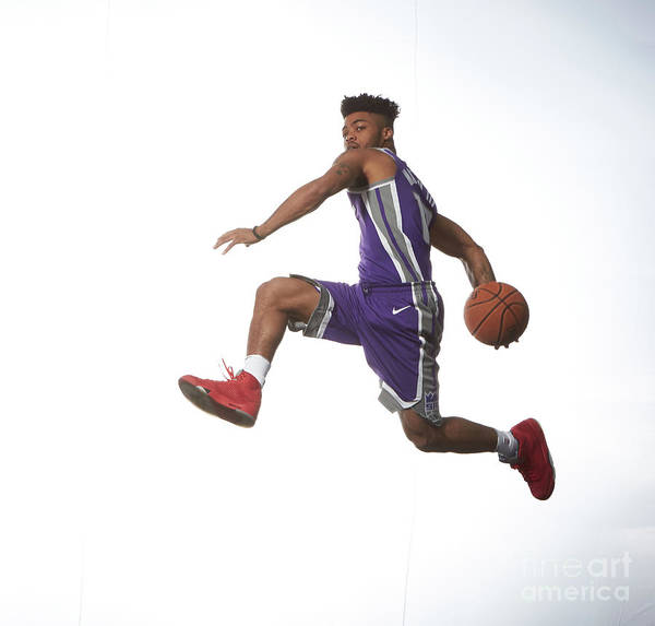 Nba Pro Basketball Art Print featuring the photograph Frank Mason by Nathaniel S. Butler