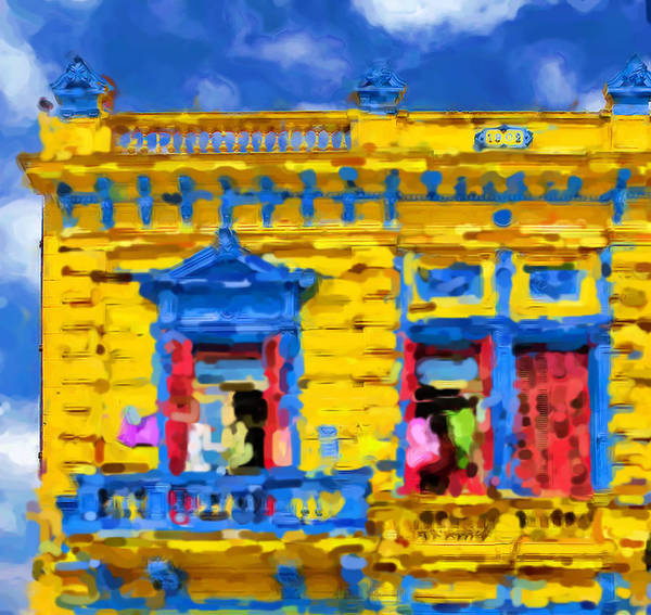 Buenos Aires Art Print featuring the mixed media Buenos Aires by Asbjorn Lonvig