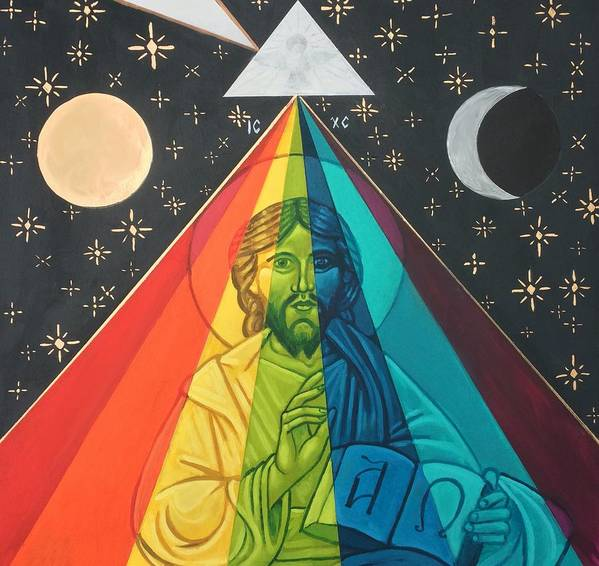 Art Print featuring the painting Christ the Light by Kelly Latimore