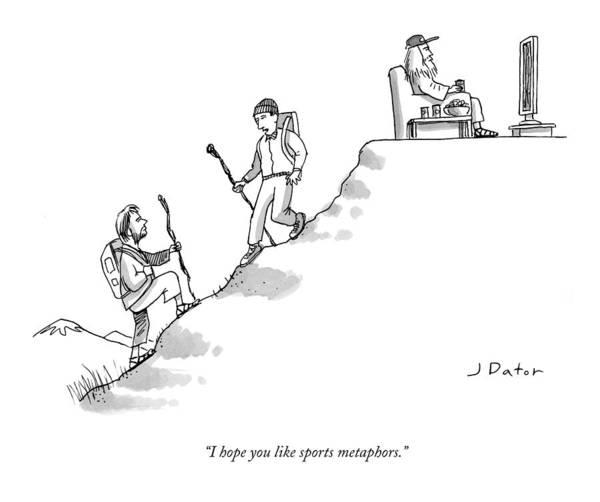 I Hope You Like Sports Metaphors. Art Print featuring the drawing I Hope You Like Sports Metaphors by Joe Dator