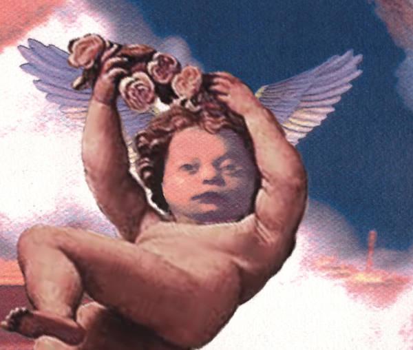 Cherub Art Print featuring the painting Angel Alexon by Michael D