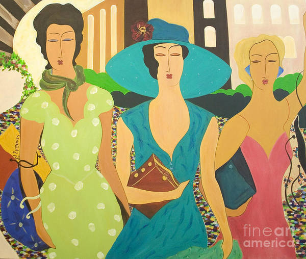 #fashion Art Print featuring the painting Daybreak by Jacquelinemari