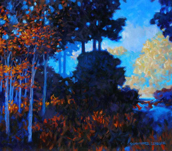Landscape Art Print featuring the painting Dreamscape by Kevin Lawrence Leveque