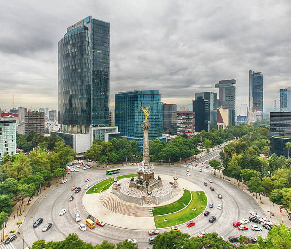 Mexico City Art Print featuring the photograph The Angel Of Independence, Mexico City by Sergio Mendoza Hochmann