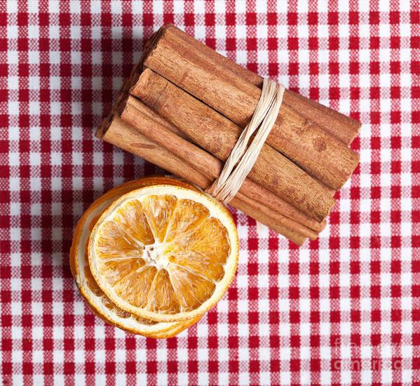Orange Art Print featuring the photograph Orange And Cinnamon by Nailia Schwarz
