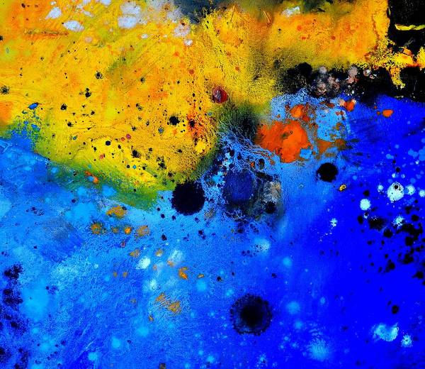 Abstract Art Print featuring the painting Abstract 767b by Pol Ledent