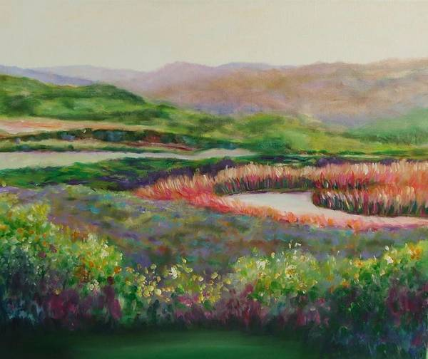 Landscape Art Print featuring the painting Blip Stream by Shannon Grissom