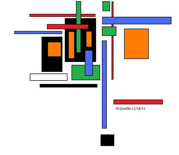 Abstract Art Print featuring the digital art City Colors 2 by B L Qualls