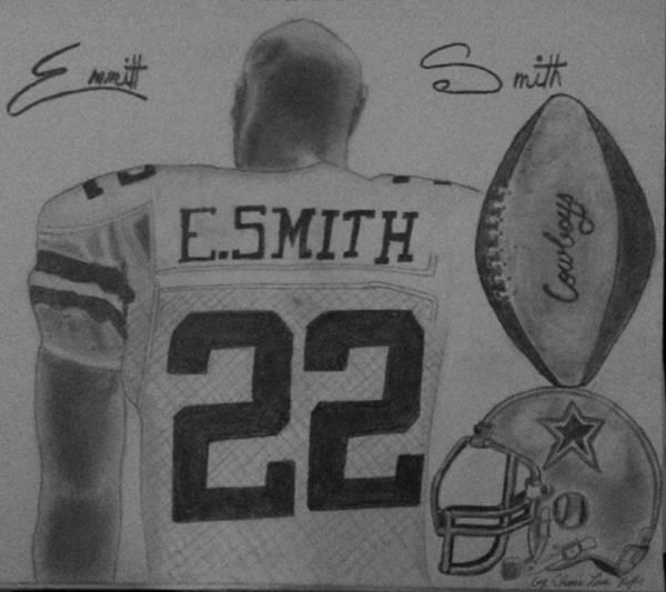 Emmit Art Print featuring the painting Classic Football by Love Reyes