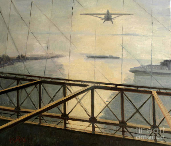 Darius Art Print featuring the painting Flight by Raimonda Jatkeviciute-Kasparaviciene
