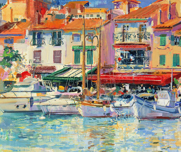 Pier Art Print featuring the painting Mirabeau by Peter Graham