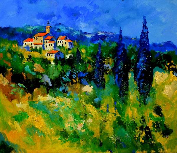Landscape Art Print featuring the painting Provence 768110 by Pol Ledent