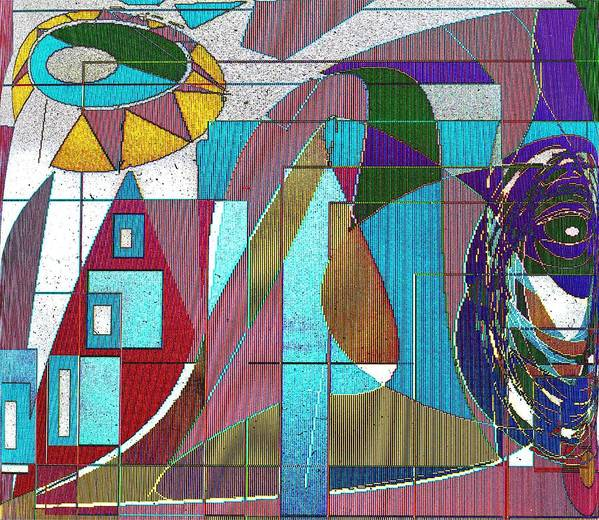 Purple Art Print featuring the digital art Purple and Blue by Ian MacDonald