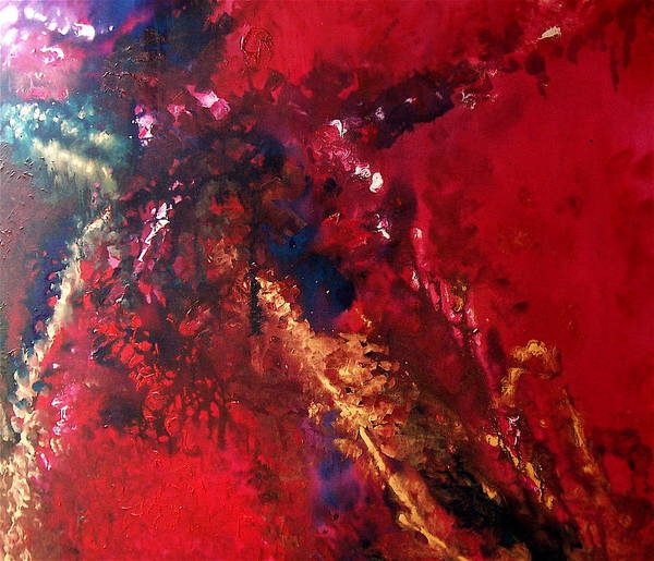 Red Art Print featuring the painting Racquel by Jess Thorsen